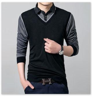 'Fashion Men''''s Slim Fit Cotton Polo Shirts Long Sleeve CasualT-Shirt Tee Tops''' - 2