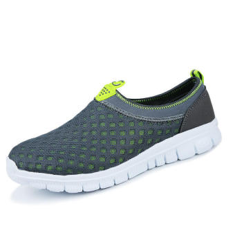 Fashion Mesh Low Cut Sneakers -Grey