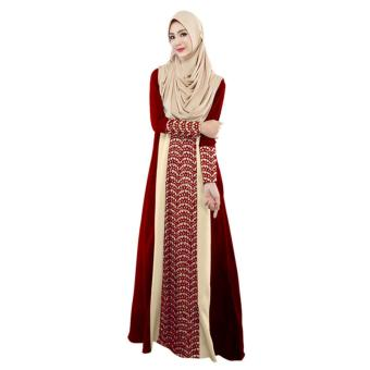 Fashion Muslim Abaya Women Islamic Dress Pakistan Clothing - intl