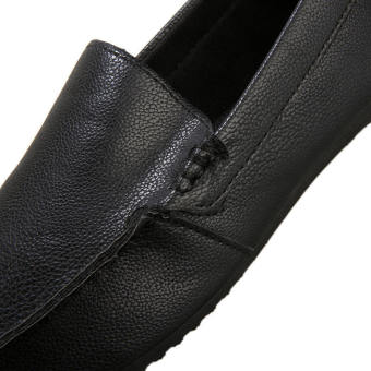 Fashion New Simple Letter Loafers -Black - picture 4