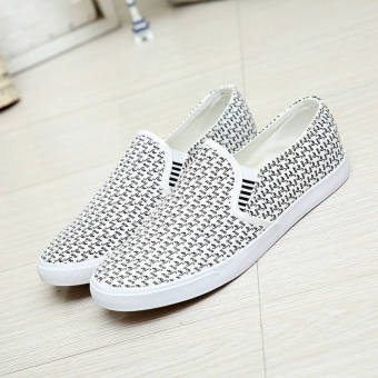 Fashion New Simple Letter Loafers - White
