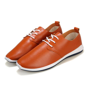 Fashion New Soft Lace-ups Loafers (Brown)