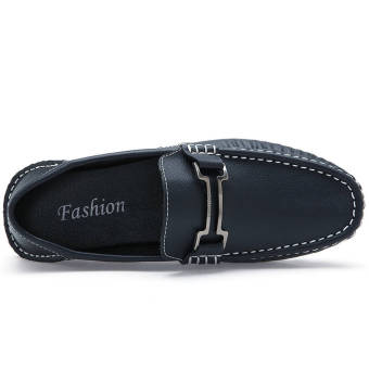 Fashion New Soft Men Leather Loafers (Blue) - picture 2