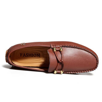 Fashion New Soft Men Leather Shoes– Brown - picture 3