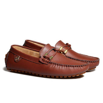 Fashion New Soft Men Leather Shoes– Brown - picture 4