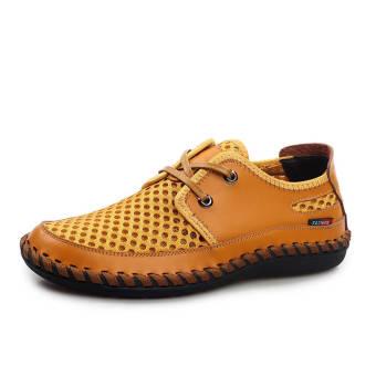 Fashion New Soft Men Plat Shoes– Yellow