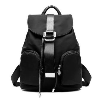 Fashion Oxford Women Backpack Casual School Bags For TeenagersGirls Female Travel Back Packs (Black) - intl