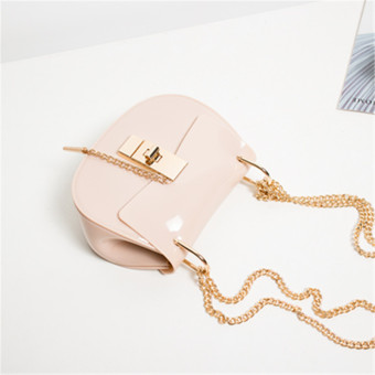 Fashion pig bag chain handbag New style women's bag (Beige) (Beige)