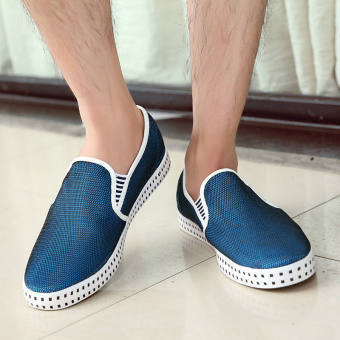 Fashion Simple Breathable Loafers -Dark Blue