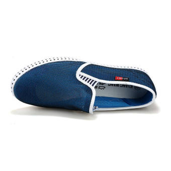 Fashion Simple Breathable Loafers -Dark Blue - picture 4