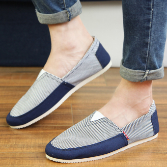 Fashion Simple Convenience Loafers -Dark Blue - picture 4