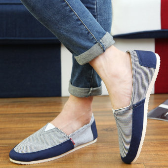 Fashion Simple Convenience Loafers -Dark Blue - picture 2