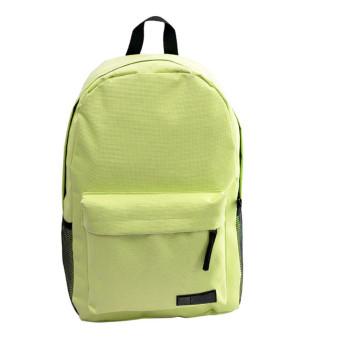 Fashion Simple Women Canvas Backpack Schoolbag (Green)