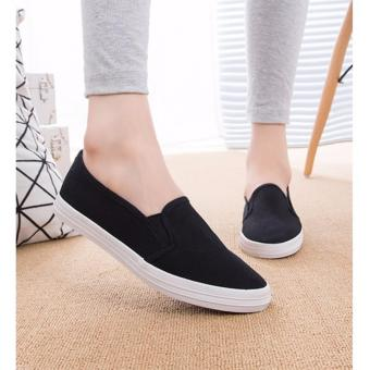 Fashion Slip On Loafers for Women - Black