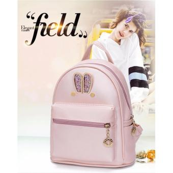 Fashion Small Women Backpacks Small Zipper Pu Leather Student Backpack Preppy Style Backpack Girls Women Back Pack Pink