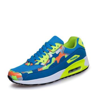 Fashion Sport Camouflage Women Low Cut Sneakers - Blue