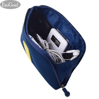 Fashion Storage Bag Creative Business Travel Multifunctional Shockproof Digital Smart phone Charger Headset Data Cable Make up mobile phone case (Large) - intl