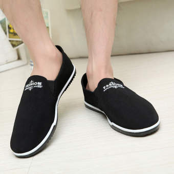 Fashion Summer Breathable Soft Bottom Loafers Black - picture 2