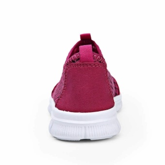 Fashion Summer Casual Women Low Cut Sneakers Shoes - Rose Red - picture 2