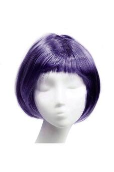 Fashion Synthetic Fiber BOBO Wig (Dark Purple) - picture 2