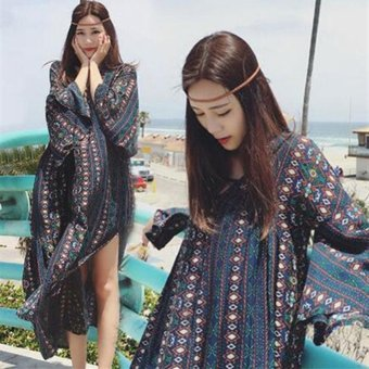 Fashion Women Bohemian Print Midi Dress - intl - 2