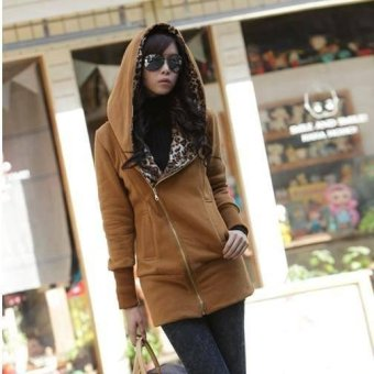 Fashion Women Cardigan Hooded Long Sleeve Sweatshirt Casual hoodie Ladies Hoodies Size Knitted Jacket Pullover Sweater Coat - intl