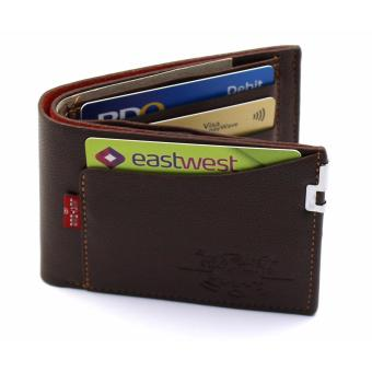 Fashionable Mens Short Wallet With Simcard Pocket Holder (BROWN )FREE GIFT BOX AND MICROWAVABLE PLASTIC CONTAINER - 4