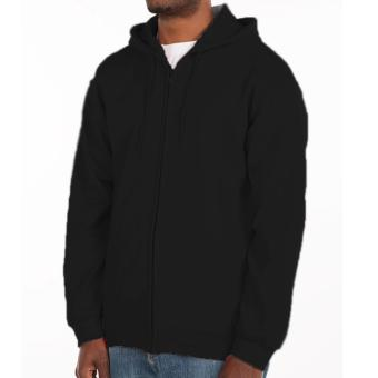 Fashionista 1988 Plain Black Hoodie Jacket