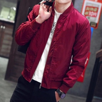 Fashionista Men's Outdoor Bomber Jacket (Maroon)