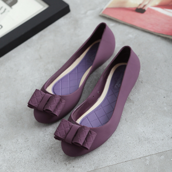 Female flat heel shoes sandals (Purple)
