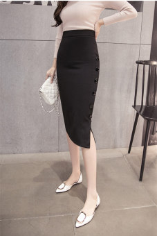 Female New style career Skirt (Black)