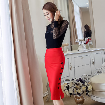 Female New style career Skirt (Red)