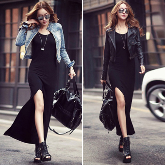 Female New style long-sleeved bottoming dress skirt