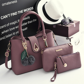 Female New style shoulder bag (Taro purple)