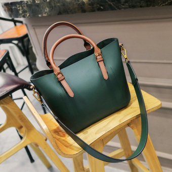 Female New style women's handbag bag bucket bag (Green)