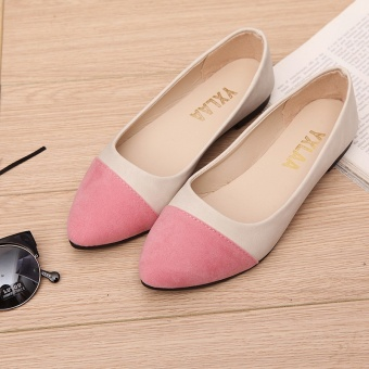 FF suede shallow mouth flat shoes for women's shoes - intl