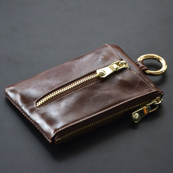 First layer of leather women's mini large capacity key bag card holder (PARK'S color)