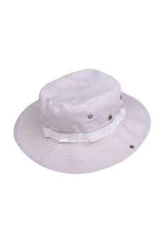 Fishing Hiking Snap Brim Military Hat (Grey)