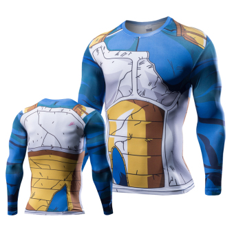 Fitness clothes running training quick drying clothes T-shirt (B models Vegeta) (B models Vegeta)