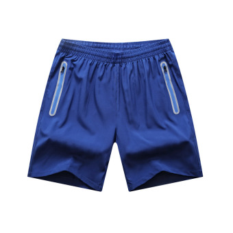Fitness running Plus-sized training pants sports shorts (Blue) (Blue)
