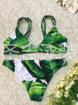 Floral European and American New style split shoulder bikini (17049) Price Philippines
