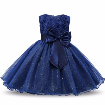 Flower Girl Dress Children Kids Beautiful Wedding Party Dresses Girls Formal Ceremonies Party Pageant Princess Dress - intl