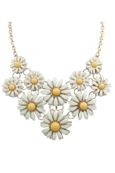 Flowers Collar Necklace (Yellow)