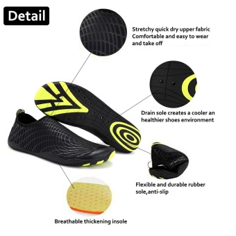 Foldable Slip Men Women Surf Aqua Beach Water Socks Shoes Sport Yoga Swim Diving Anti-slip Bottom Water Sport Shoes - intl - 2