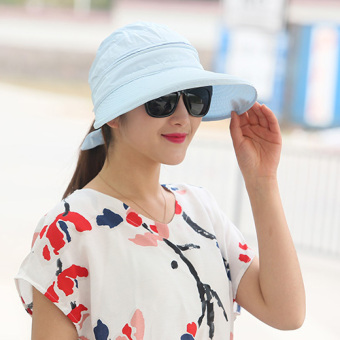 Foldable sun hat summer Hat hat (Sky blue color)