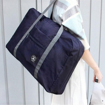 Foldable Travel Holdall Luggage Carry On Weekend Business Clothes Duffle Bag - intl