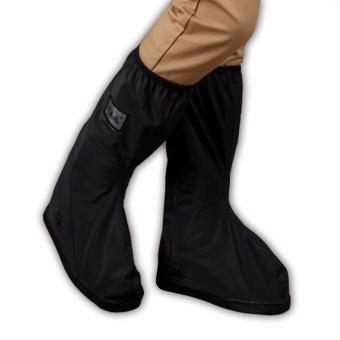 Foldable Waterproof Flood Proof Rain Boot Shoe Cover for Men (black) - 3
