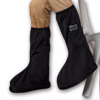 Foldable Waterproof Flood Proof Rain Boot Shoe Cover for Men (black) - 4