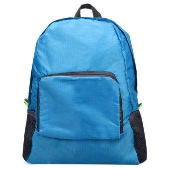 Folding Shoulder Bag Female Outdoor Backpack (Blue)