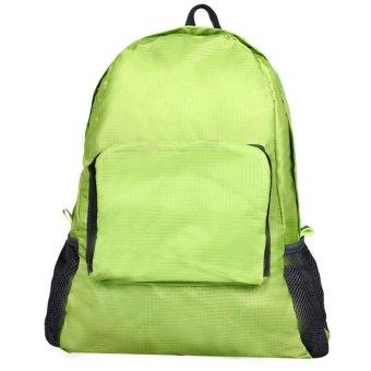 Folding Shoulder Bag Female Outdoor Backpack Green
